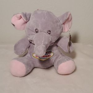 FREE W/PURCHASE.Las Vegas stuffed elephant